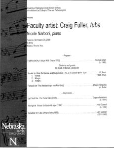 Craig Fuller - Tuba Recital
