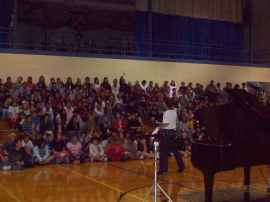 Students at Columbus Middle School